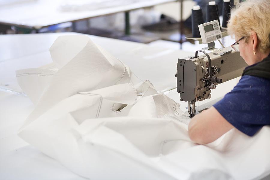 Výroba šitej vložky