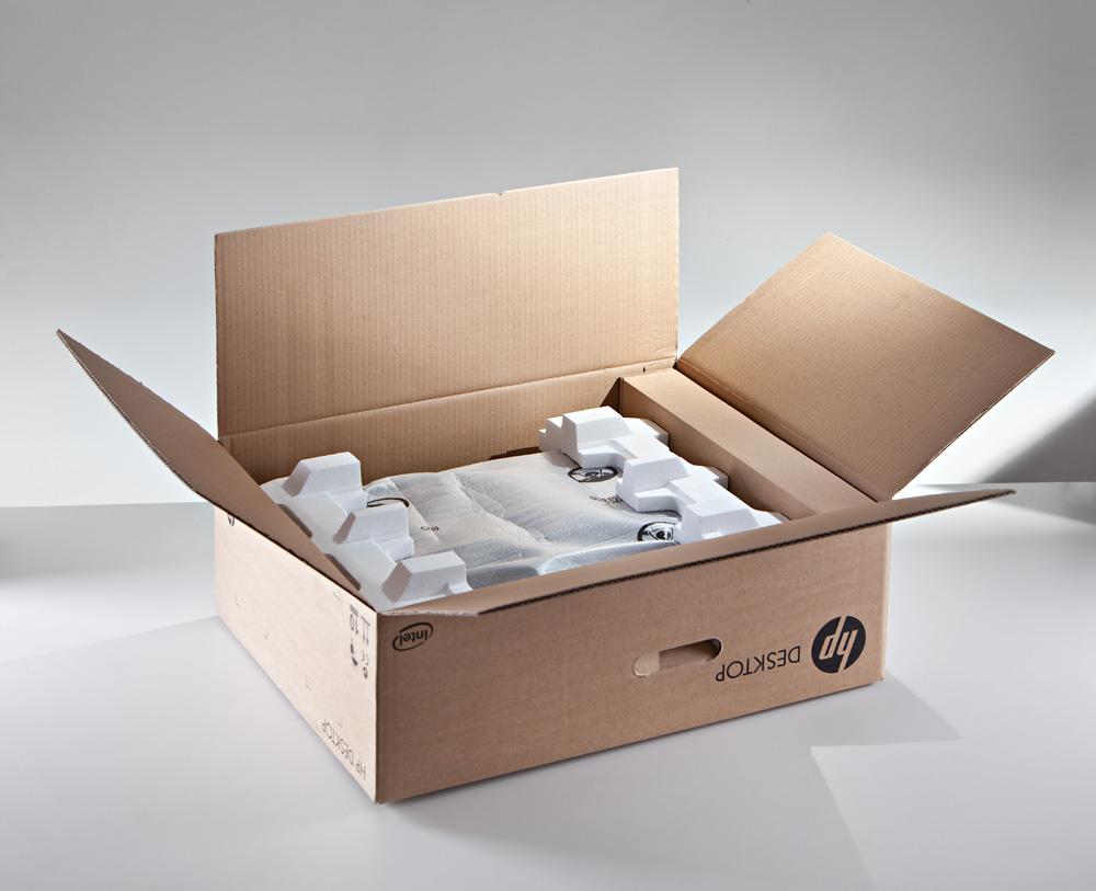 Krabica s polystyrénom