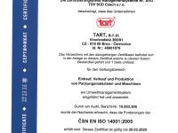 Zertifikat ISO 14001:2005