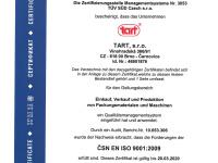 Zertifikat ISO 9001:2009